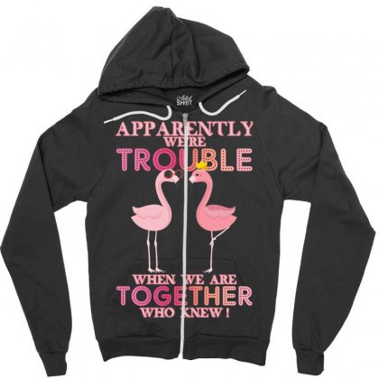 Apparently We're Trouble When We Are Together Who Knew Zipper Hoodie Designed By