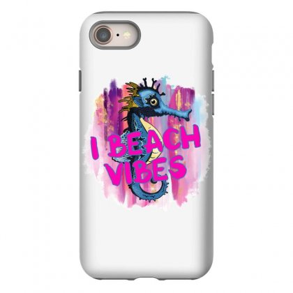 I Beach Vibes Seahorse Iphone 8 Case Designed By