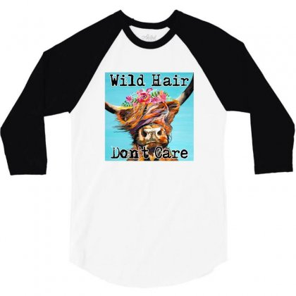 Wild Hair Don't Care 3/4 Sleeve Shirt Designed By