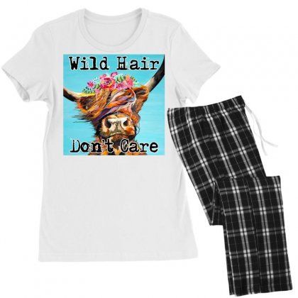 Wild Hair Don't Care Women's Pajamas Set Designed By