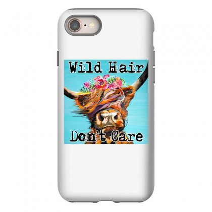 Wild Hair Don't Care Iphone 8 Case Designed By