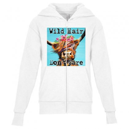 Wild Hair Don't Care Youth Zipper Hoodie Designed By