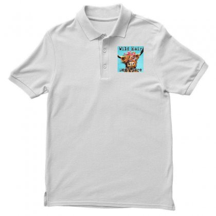 Wild Hair Don't Care Polo Shirt Designed By
