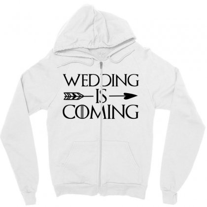 Wedding Is Coming For Light Zipper Hoodie Designed By