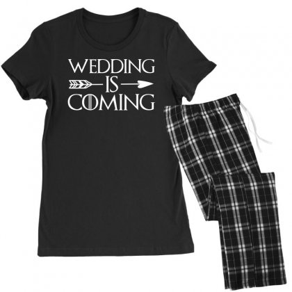 Wedding Is Coming For Dark Women's Pajamas Set Designed By