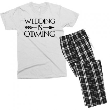 Wedding Is Coming For Light Men's T-shirt Pajama Set Designed By