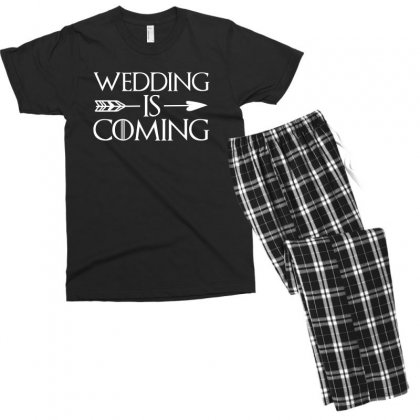 Wedding Is Coming For Dark Men's T-shirt Pajama Set Designed By