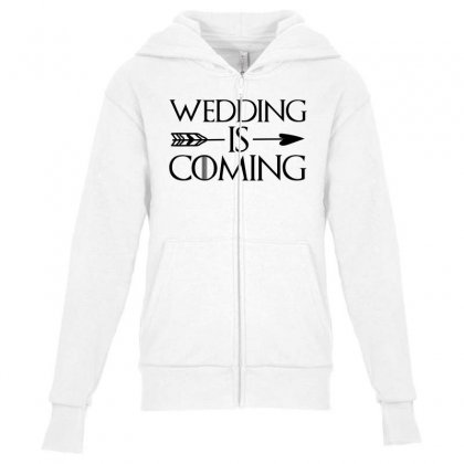 Wedding Is Coming For Light Youth Zipper Hoodie Designed By