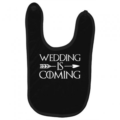 Wedding Is Coming For Dark Baby Bibs Designed By
