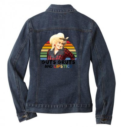 Guts Gruts And Lipstick For Light Ladies Denim Jacket Designed By