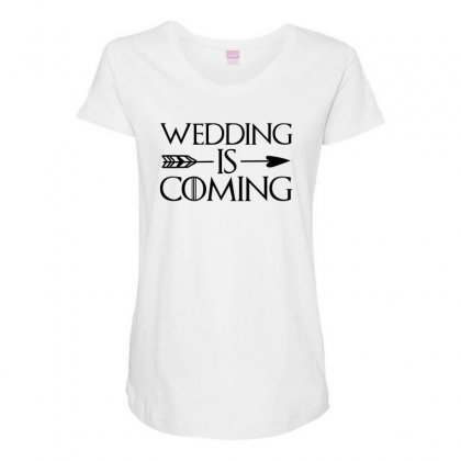Wedding Is Coming For Light Maternity Scoop Neck T-shirt Designed By