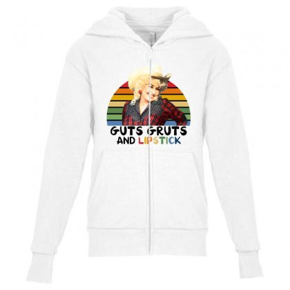Guts Gruts And Lipstick For Light Youth Zipper Hoodie Designed By