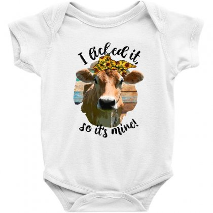 I Licked It So It's Mine For Light Baby Bodysuit Designed By