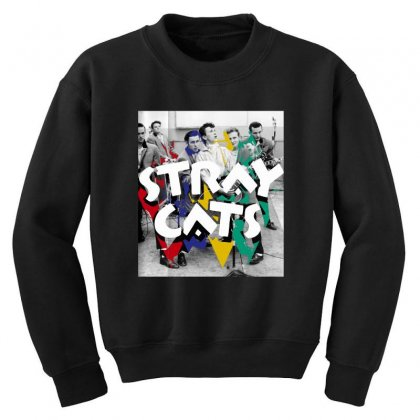 Stray Cats Youth Sweatshirt Designed By Sengul