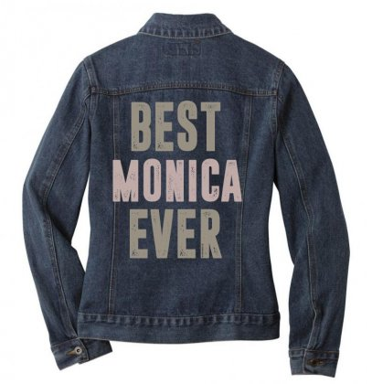 Is Your Name, Monica? This Shirt Is For You! Ladies Denim Jacket Designed By