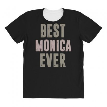 Is Your Name, Monica? This Shirt Is For You! All Over Women's T-shirt Designed By