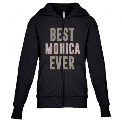 Is Your Name, Monica? This Shirt Is For You! Youth Zipper Hoodie Designed By