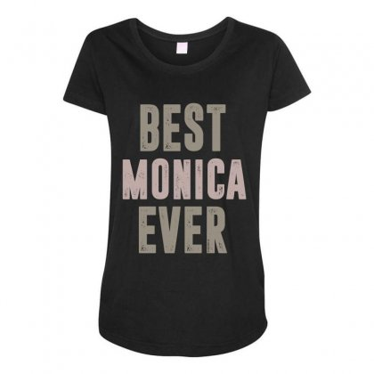 Is Your Name, Monica? This Shirt Is For You! Maternity Scoop Neck T-shirt Designed By