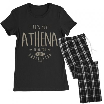Is Your Name, Athena. This Shirt Is For You! Women's Pajamas Set Designed By