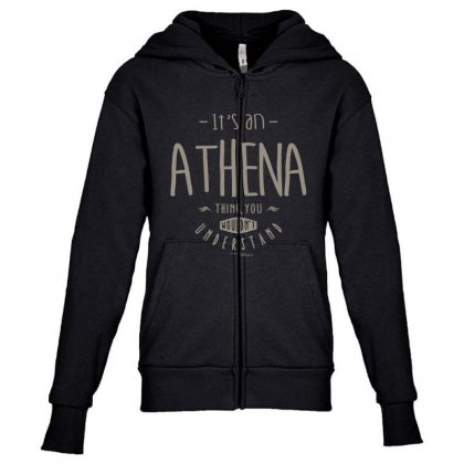 Is Your Name, Athena. This Shirt Is For You! Youth Zipper Hoodie Designed By