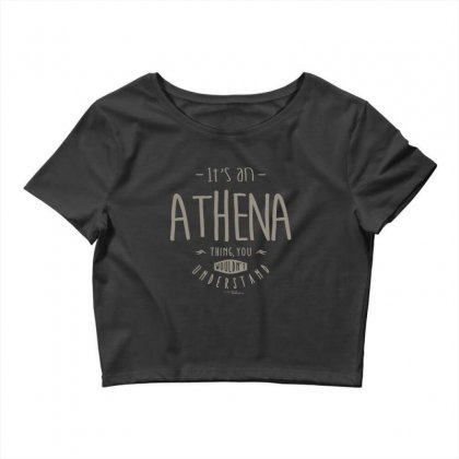 Is Your Name, Athena. This Shirt Is For You! Crop Top Designed By