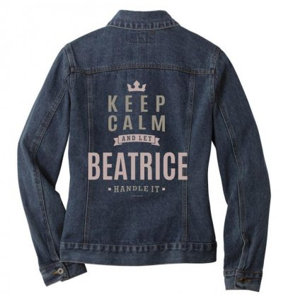 Is Your Name, Beatrice This Shirt Is For You! Ladies Denim Jacket Designed By