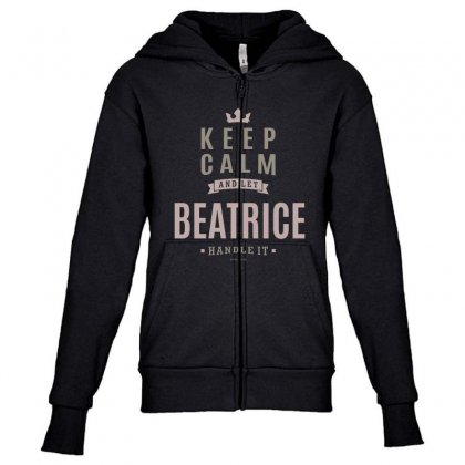 Is Your Name, Beatrice This Shirt Is For You! Youth Zipper Hoodie Designed By