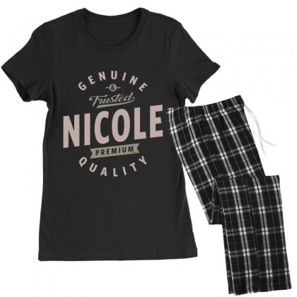 Is Your Name, Nicole. This Shirt Is For You! Women's Pajamas Set Designed By
