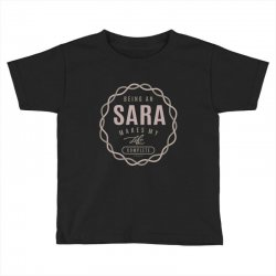 Is Your Name, Sara ? This shirt is for you! Toddler T-shirt | Artistshot