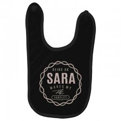 Is Your Name, Sara ? This shirt is for you! Baby Bibs | Artistshot