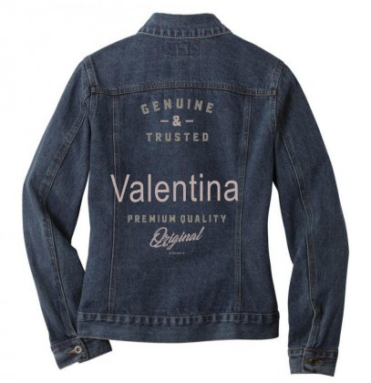 Is Your Name, Valentina ? This Shirt Is For You! Ladies Denim Jacket Designed By