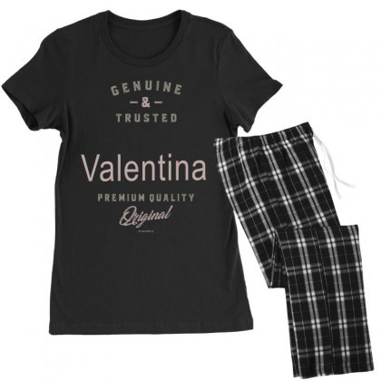 Is Your Name, Valentina ? This Shirt Is For You! Women's Pajamas Set Designed By