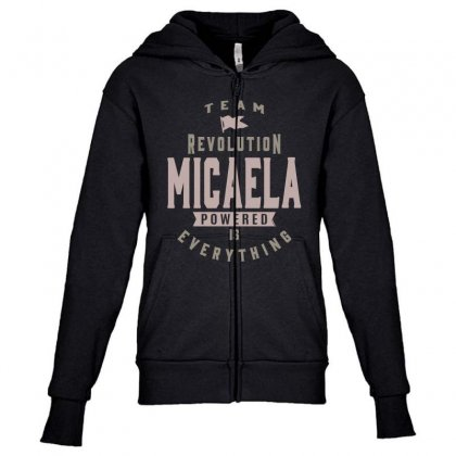 Is Your Name, Micaela? This Shirt Is For You! Youth Zipper Hoodie Designed By