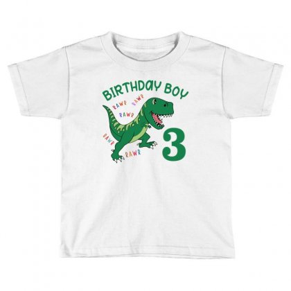 Birthday Boy 3 Toddler T-shirt Designed By Artees Artwork