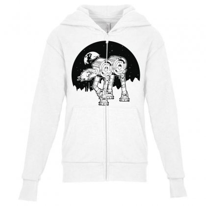 Iconic Wars Youth Zipper Hoodie Designed By