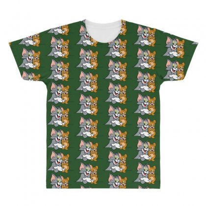 Tom & Jerry All Over Men's T-shirt Designed By