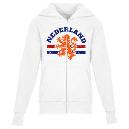 Dutch Lion Youth Zipper Hoodie Designed By