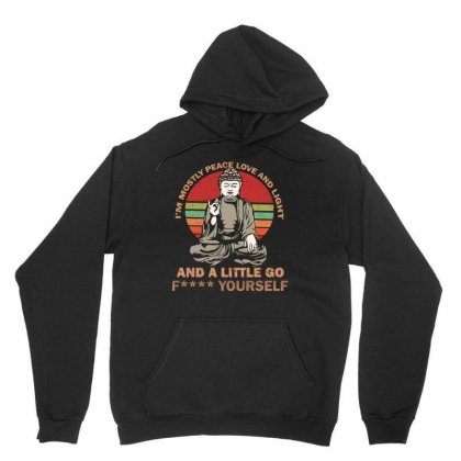 I'm Mostly Peace Love And Light And A Little Yoga Unisex Hoodie Designed By