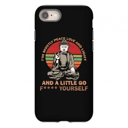I'm Mostly Peace Love And Light And A Little Yoga Iphone 8 Case Designed By