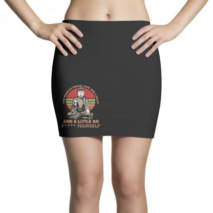 I'm Mostly Peace Love And Light And A Little Yoga Mini Skirts Designed By