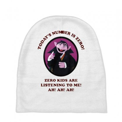 Number Is Zero Baby Beanies Designed By