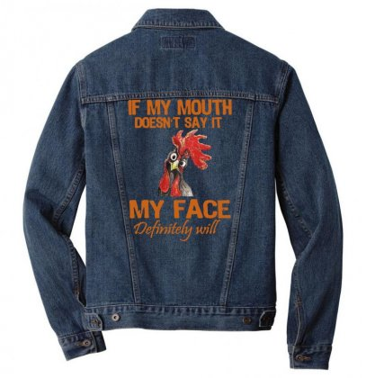 My Mouth My Face Men Denim Jacket Designed By