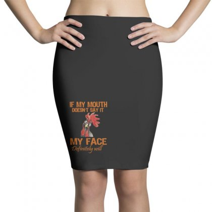 My Mouth My Face Pencil Skirts Designed By