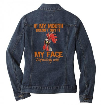 My Mouth My Face Ladies Denim Jacket Designed By