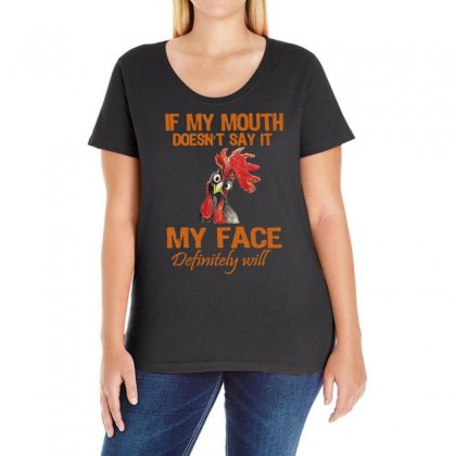 My Mouth My Face Ladies Curvy T-shirt Designed By