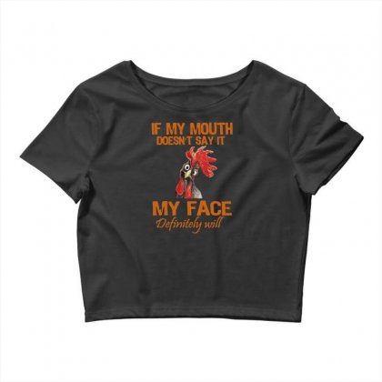 My Mouth My Face Crop Top Designed By
