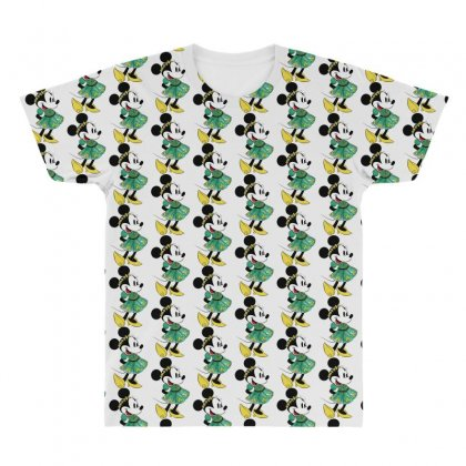 Minny Mouse All Over Men's T-shirt Designed By