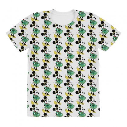 Minny Mouse All Over Women's T-shirt Designed By