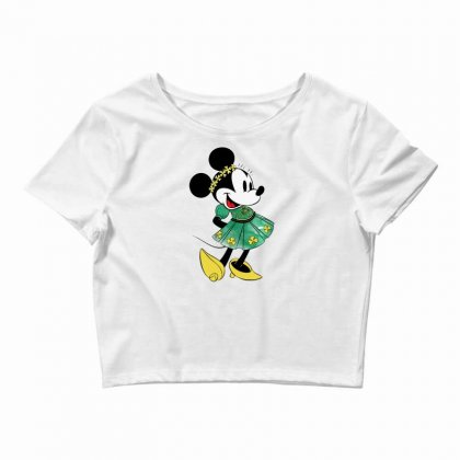 Minny Mouse Crop Top Designed By