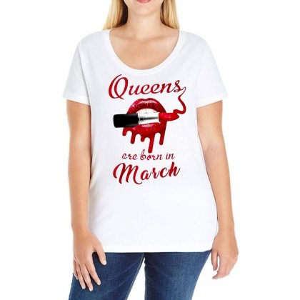 March Ladies Curvy T-shirt Designed By